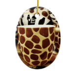 Cool Giraffe Pattern and Zebra Stripes Coffee Mugs Christmas Tree Ornament