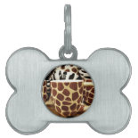 Cool Giraffe Pattern and Zebra Stripes Coffee Mugs Pet Tag