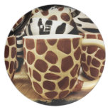 Cool Giraffe Pattern and Zebra Stripes Coffee Mugs Dinner Plates