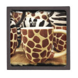Cool Giraffe Pattern and Zebra Stripes Coffee Mugs Premium Trinket Boxes
