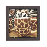 Cool Giraffe Pattern and Zebra Stripes Coffee Mugs Premium Jewelry Boxes