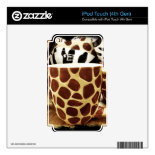 Cool Giraffe Pattern and Zebra Stripes Coffee Mugs iPod Touch 4G Decal