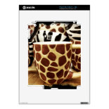 Cool Giraffe Pattern and Zebra Stripes Coffee Mugs Skin For iPad 2