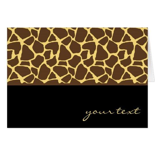 Cool Giraffe Pattern Card