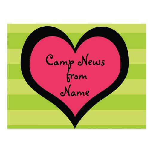Cool Girl Customizable Camp Postcard