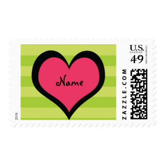 Cool Girl Customizable Camp Stuff Postage Stamp