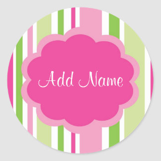 Cool Girl Customizable Stripe Sticker