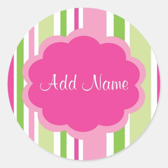 Cool Girl Customizable Stripe Sticker