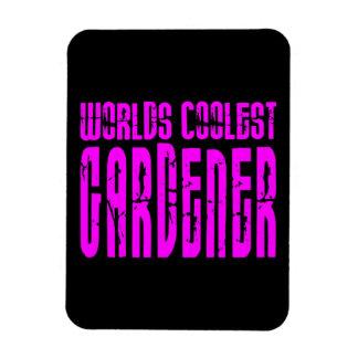 Cool Girl Gardeners  Worlds Coolest Gardener Flexible Magnet