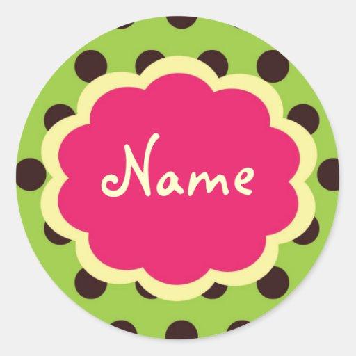 Cool Girl PolkaDot Customizable Sticker