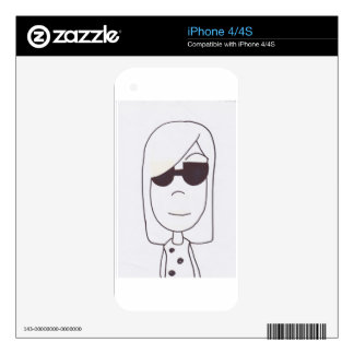 Cool Girl Skin For iPhone 4S