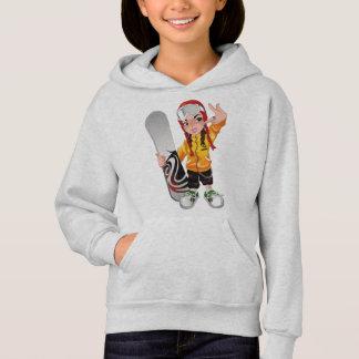 COOL GIRL SNOW BOARDER. HOODIE