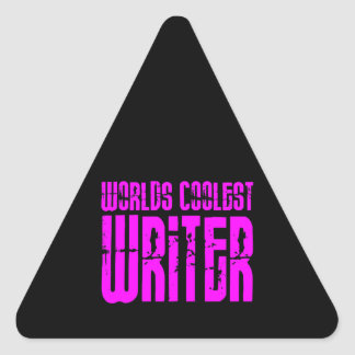 Cool Girl Writers Pink Worlds Coolest Writer Triangle Sticker