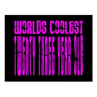 Cool Girls 23rd : Pink Worlds Coolest Twenty Three Postcard