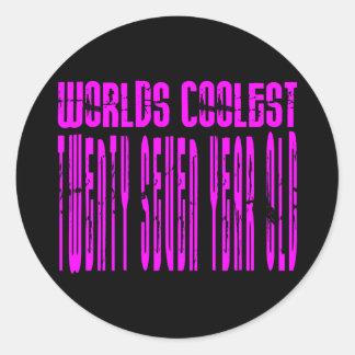 Cool Girls 27th : Pink Worlds Coolest Twenty Seven Classic Round Sticker