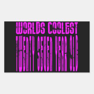 Cool Girls 27th : Pink Worlds Coolest Twenty Seven Rectangular Sticker