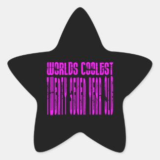 Cool Girls 27th : Pink Worlds Coolest Twenty Seven Star Sticker