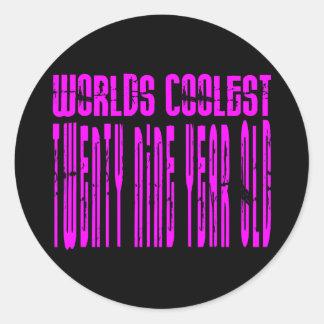 Cool Girls 29th : Pink Worlds Coolest Twenty Nine Classic Round Sticker