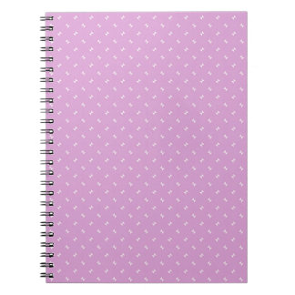 Cool Girly Pink Plug Pattern Gifts Spiral Notebook