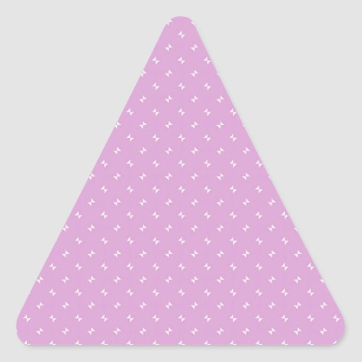 Cool girly pink plug pattern gifts triangle stickers zazzle for Cool girly stuff