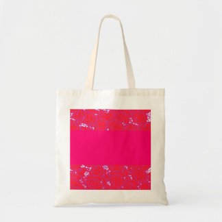 Cool girly swirls pink and red pattern tote bag