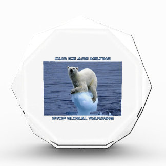 cool GLOBAL WARMING designs Acrylic Award