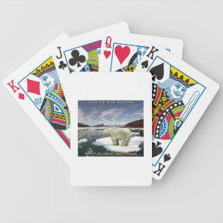 cool GLOBAL WARMING designs Bicycle Playing Cards