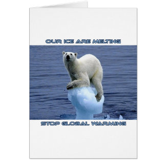 cool GLOBAL WARMING designs Card