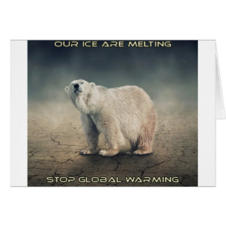 cool GLOBAL WARMING designs Card