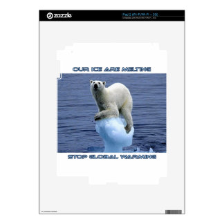 cool GLOBAL WARMING designs Decals For iPad 2