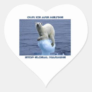 cool GLOBAL WARMING designs Heart Sticker