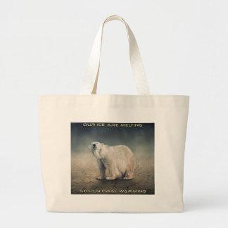 cool GLOBAL WARMING designs Large Tote Bag