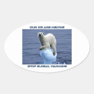 cool GLOBAL WARMING designs Oval Sticker