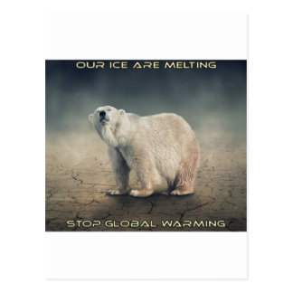 cool GLOBAL WARMING designs Postcard