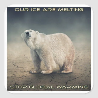 cool GLOBAL WARMING designs Square Sticker