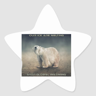 cool GLOBAL WARMING designs Star Sticker