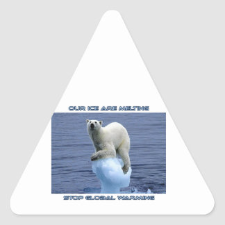 cool GLOBAL WARMING designs Triangle Sticker