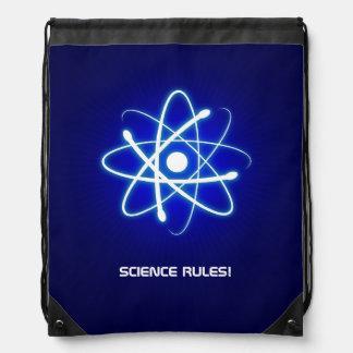 Cool Glowing Atom Symbol Drawstring Backpack
