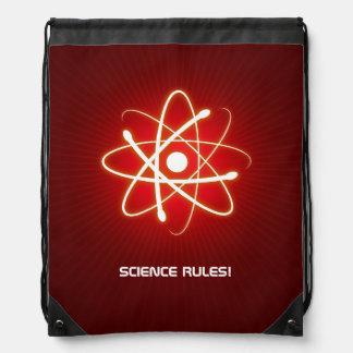 Cool Glowing Atom Symbol Drawstring Bag