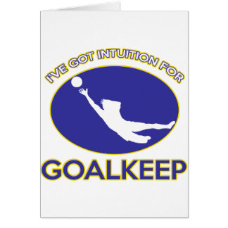 cool goalkeeper design card
