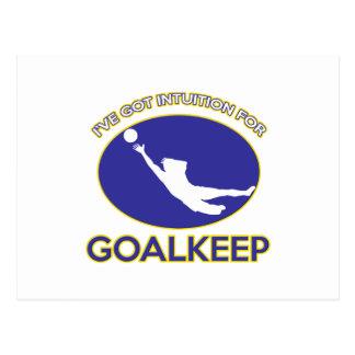 cool goalkeeper design post cards