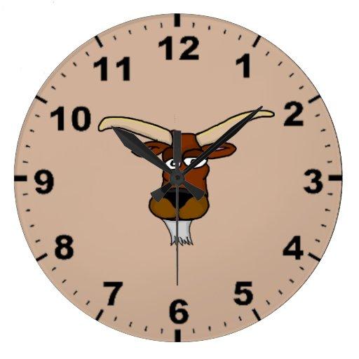 Cool Goat Design Wall Clocks Zazzle