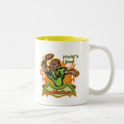 Cool Godfather Football Gifts Two Tone Coffee Mug Zazzle