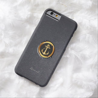 Cool Gold Anchor Black Stone iPhone 6 Case