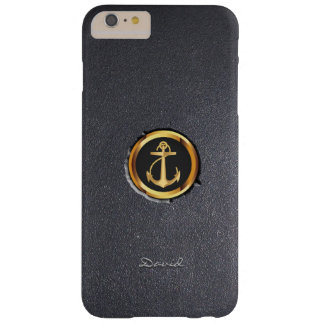 Cool Gold Anchor Black Stone iPhone 6 Plus Case
