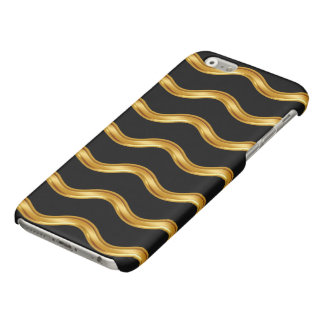 Cool Gold And Black Glossy iPhone 6 Case