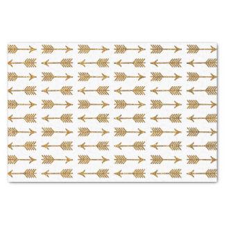 "Cool Gold Brown Arrows Glitter Photo Print 10"" X 15"" Tissue Paper"