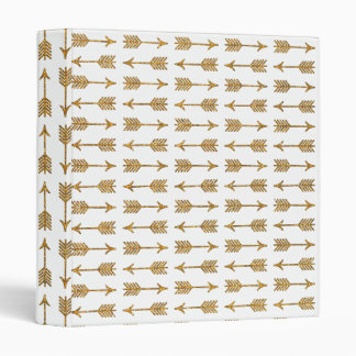 Cool Gold Brown Arrows Glitter Photo Print Binder