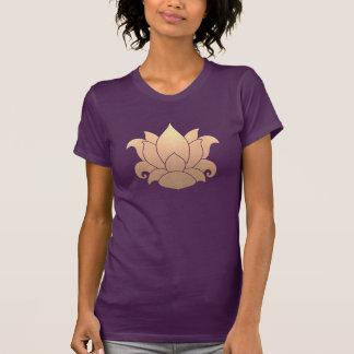 Cool Gold Lotus Yoga Meditation Teacher Purple T Shirt