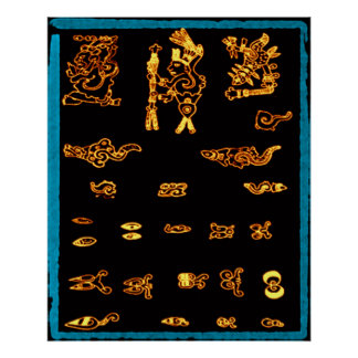 Cool Gold Mayan Design Posters